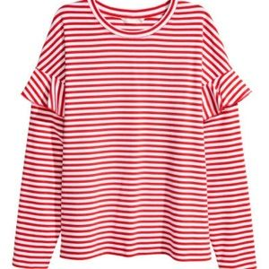 H&M Jersey top with ruffles
